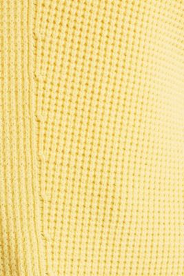 Jumper with a rice grain texture, YELLOW, detail
