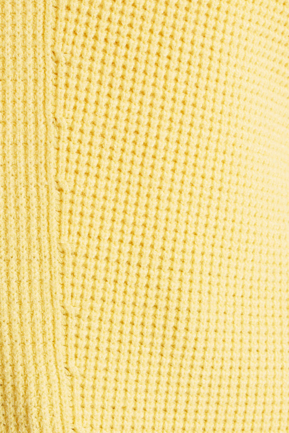 Jumper with a rice grain texture, YELLOW, detail image number 4