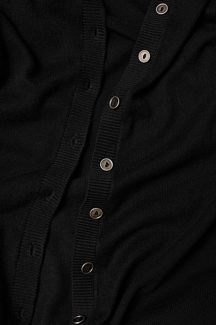 Basic-Cardigan aus Feinstrick, BLACK, detail image number 4