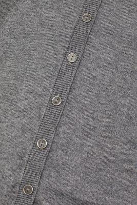 Basic fine knit cardigan, GUNMETAL 5, detail