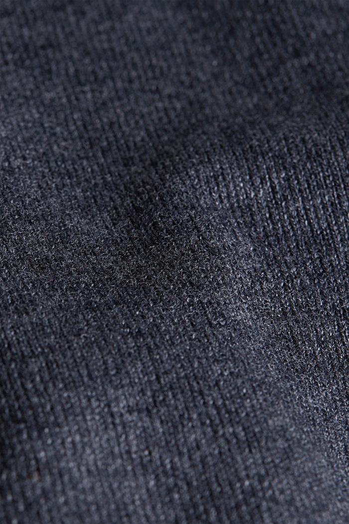 Basic fine knit cardigan, DARK GREY, detail image number 4