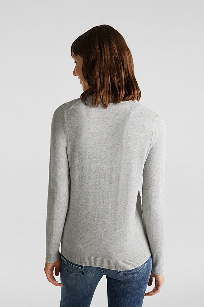 Basic-Cardigan aus Feinstrick, LIGHT GREY, detail image number 3