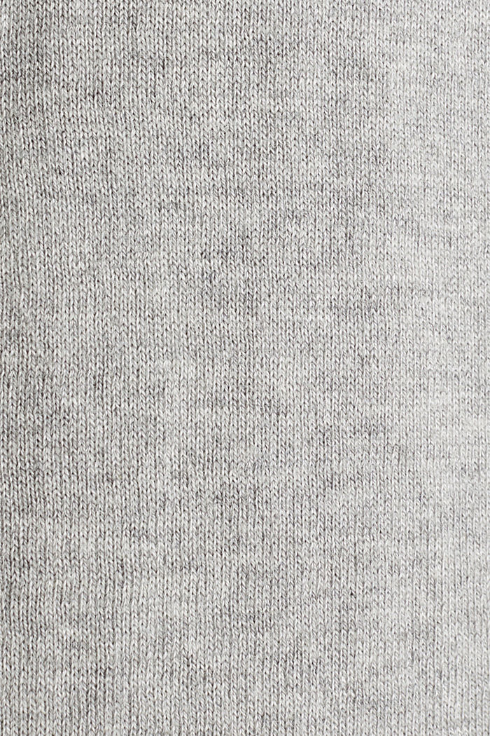 Basic-Cardigan aus Feinstrick, LIGHT GREY, detail image number 4