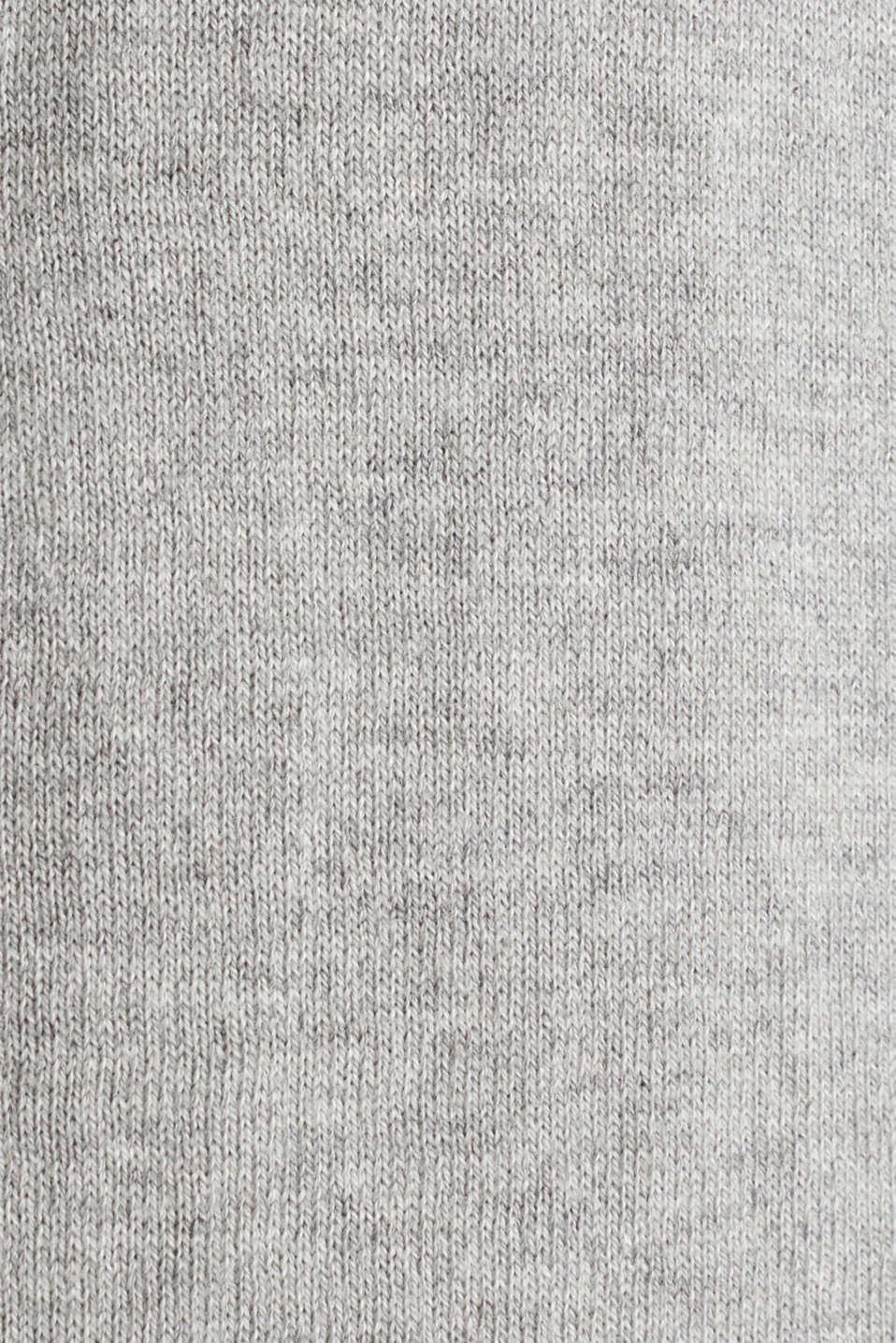 Basic fine knit cardigan, LIGHT GREY 5, detail image number 4