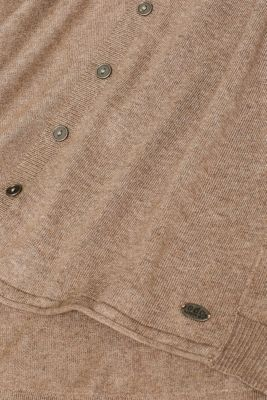 Basic fine knit cardigan, TAUPE 5, detail