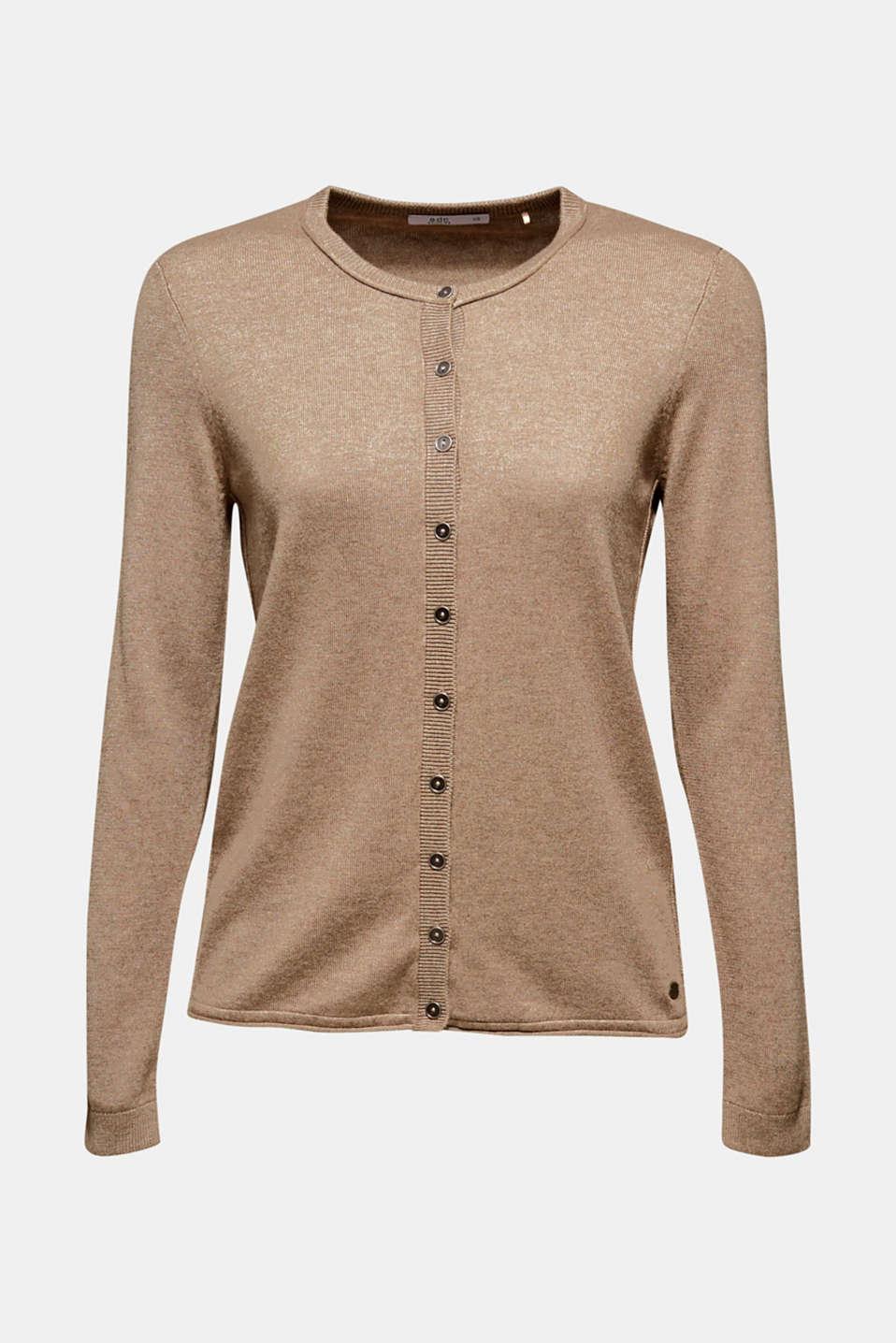 Basic fine knit cardigan, TAUPE 5, detail image number 6
