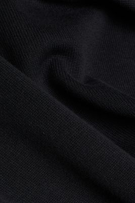 Cardigan with a hood, BLACK, detail