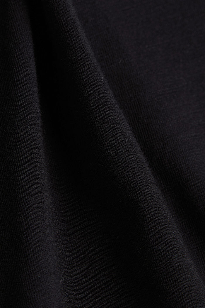 Basic shirt met organic cotton, BLACK, detail image number 4