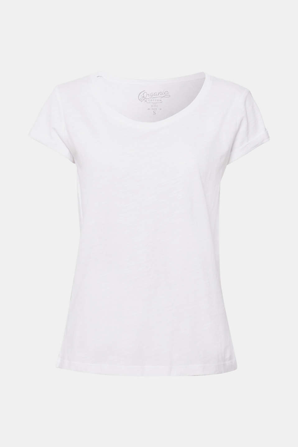 edc - Basic-Shirt mit Organic Cotton