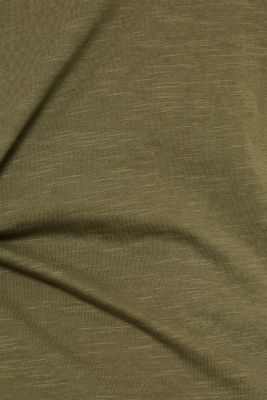 T-shirt containing organic cotton, KHAKI GREEN, detail