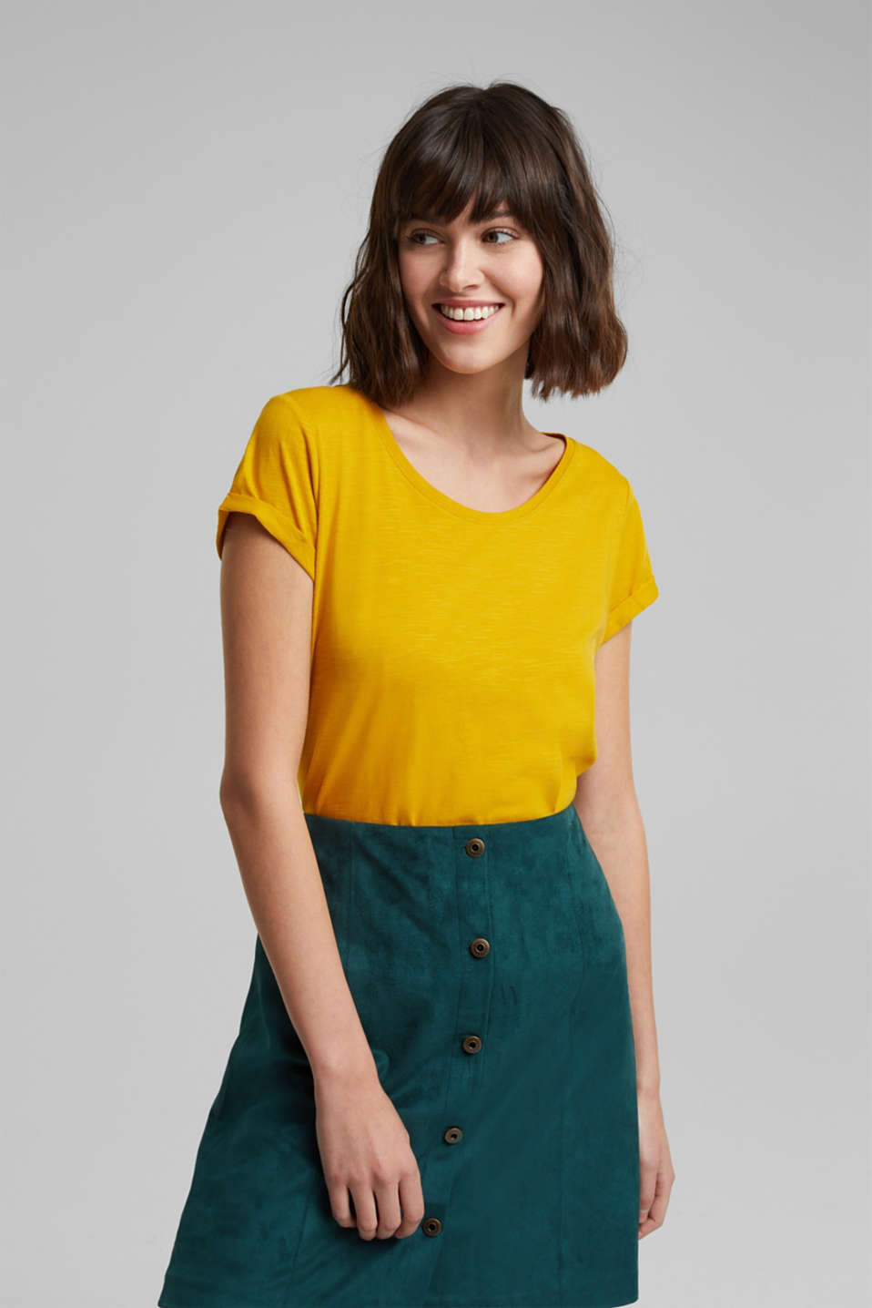 edc - Basic shirt met organic cotton
