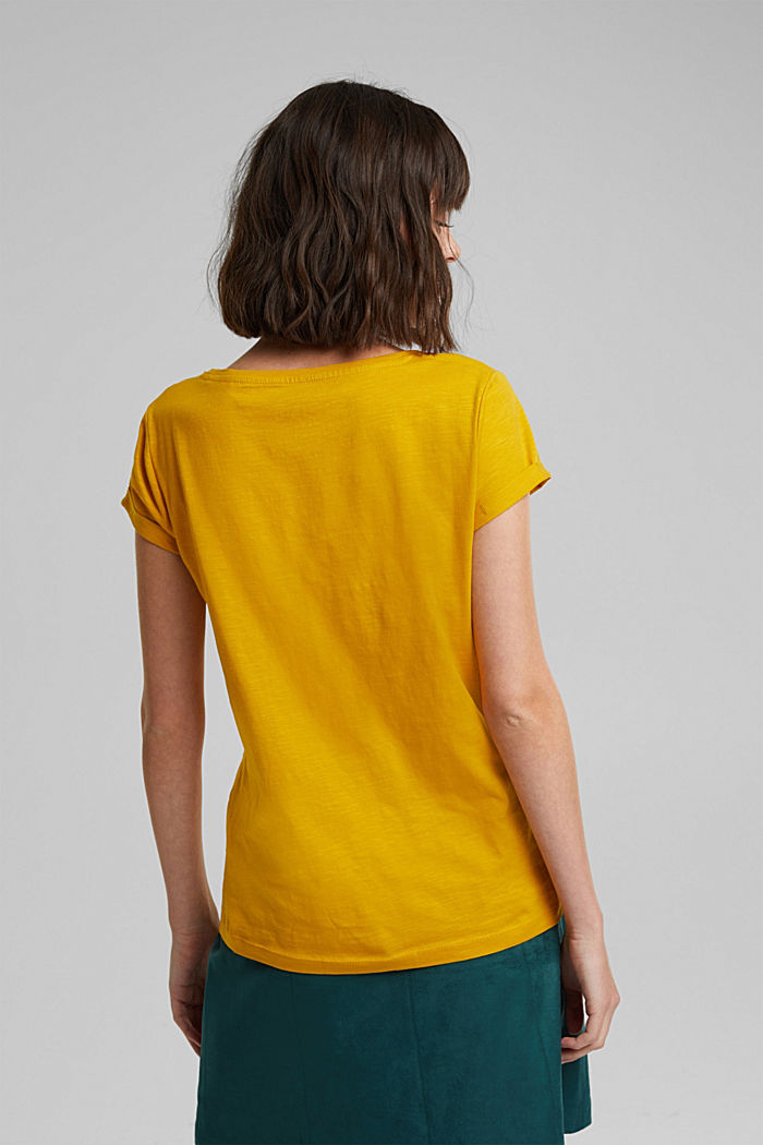 Basic-Shirt mit Organic Cotton, BRASS YELLOW, detail image number 3