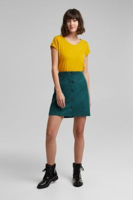 Basic top with organic cotton, BRASS YELLOW, detail