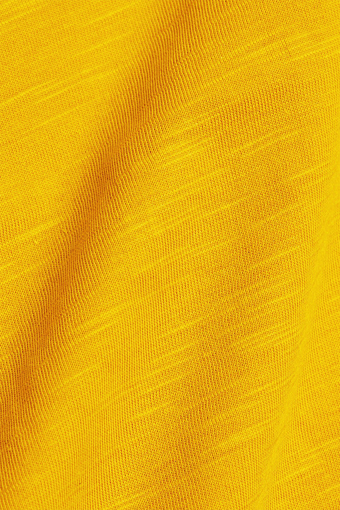 Basic-Shirt mit Organic Cotton, BRASS YELLOW, detail image number 4