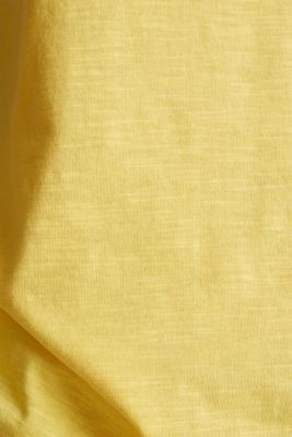 T-shirt containing organic cotton, LIGHT YELLOW, detail