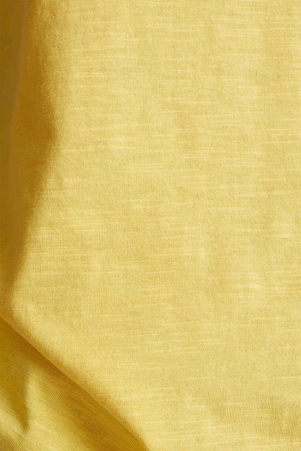 T-shirt containing organic cotton, LIGHT YELLOW, detail image number 4