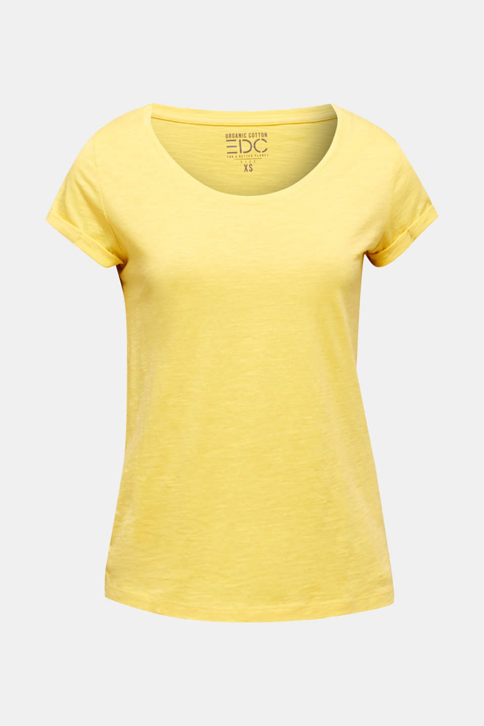 T-shirt containing organic cotton, LIGHT YELLOW, detail image number 6