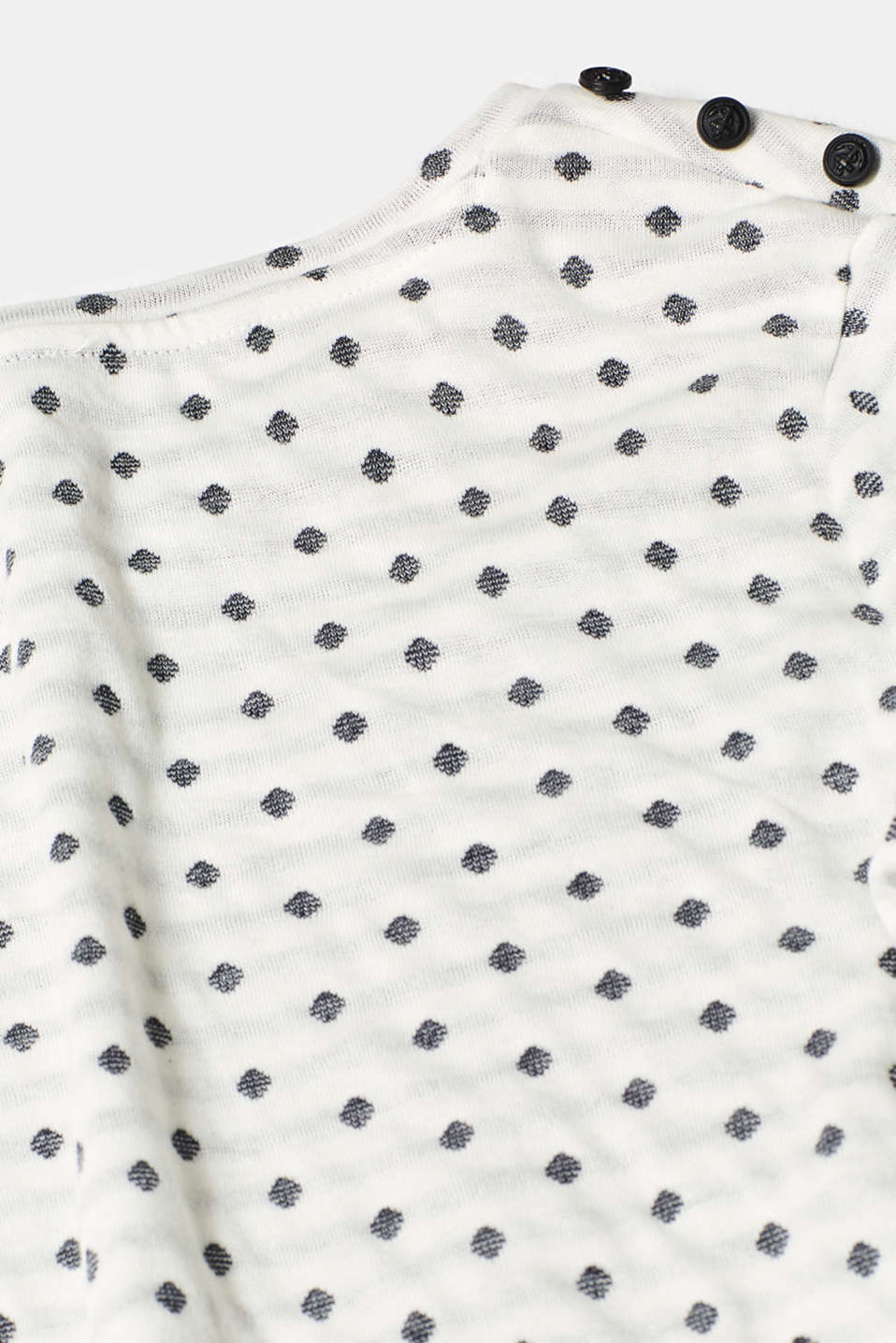 Soft, double-faced long sleeve top, 100% cotton, OFF WHITE, detail image number 4