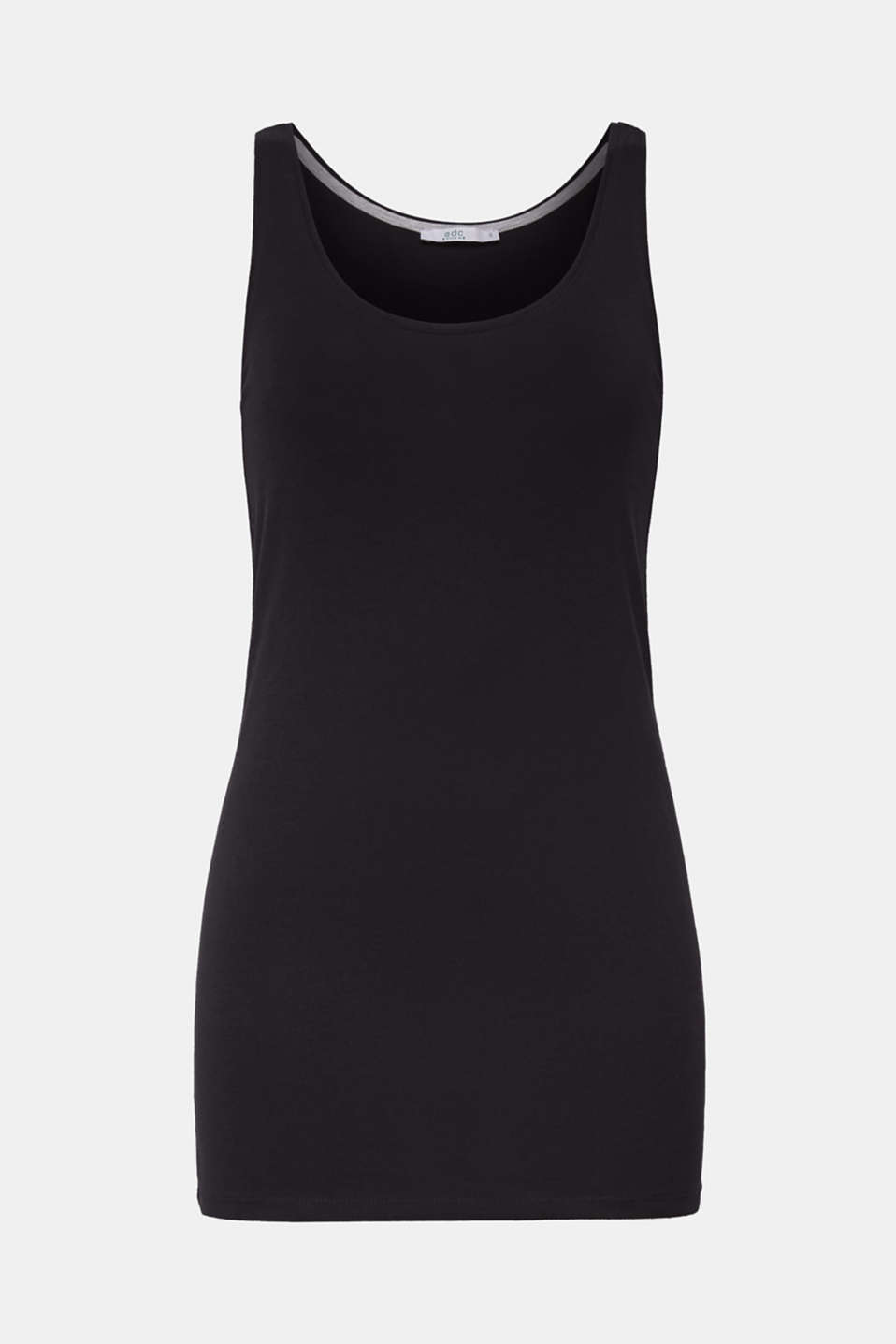 edc - Tanktop met stretch en organic cotton