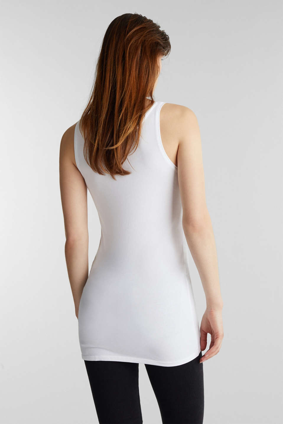 Stretch vest containing organic cotton, WHITE, detail image number 2