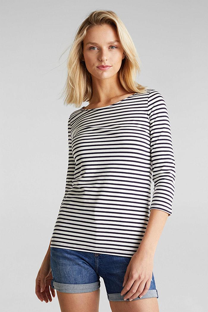 Gestreept shirt met organic cotton, NAVY, detail image number 0