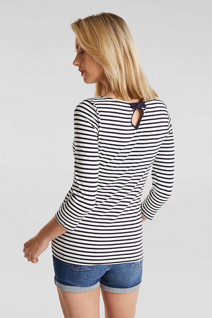 Gestreept shirt met organic cotton, NAVY, detail image number 3