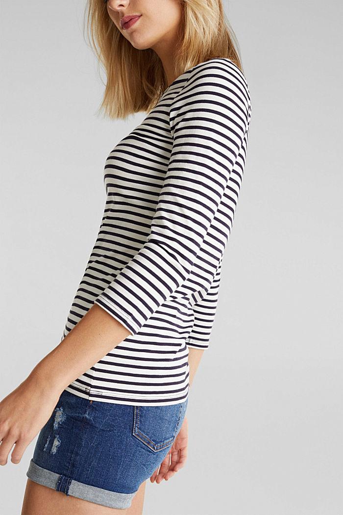 Gestreept shirt met organic cotton, NAVY, detail image number 5