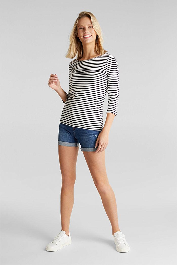 Gestreept shirt met organic cotton, NAVY, detail image number 1