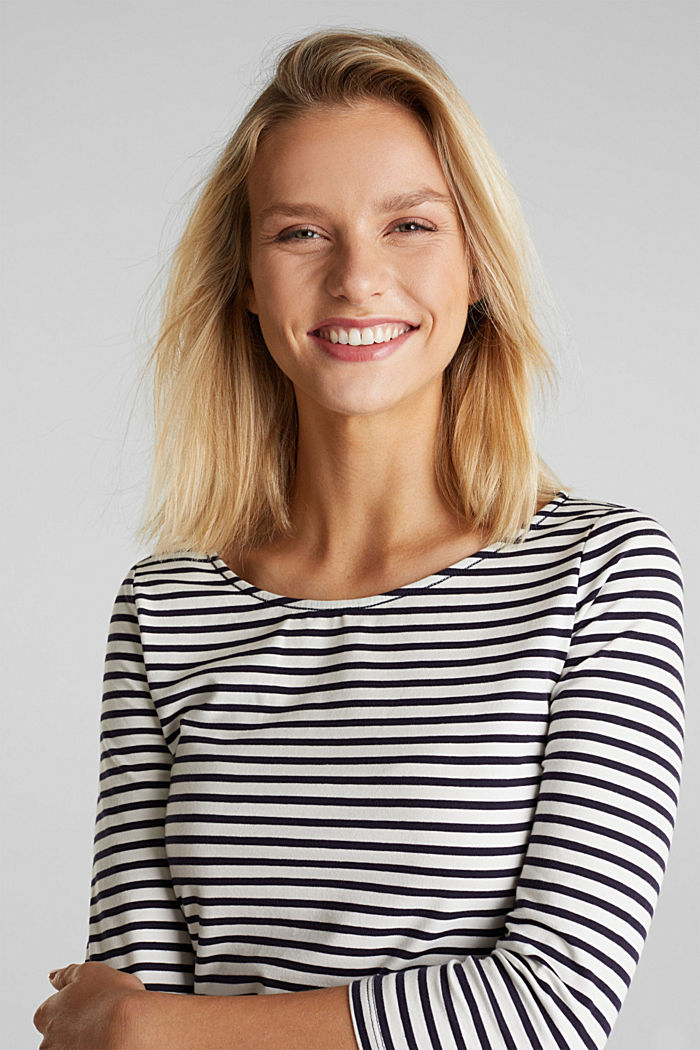 Gestreept shirt met organic cotton, NAVY, detail image number 6