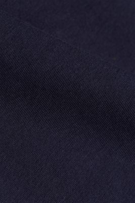 Top with bow and organic cotton, NAVY, detail