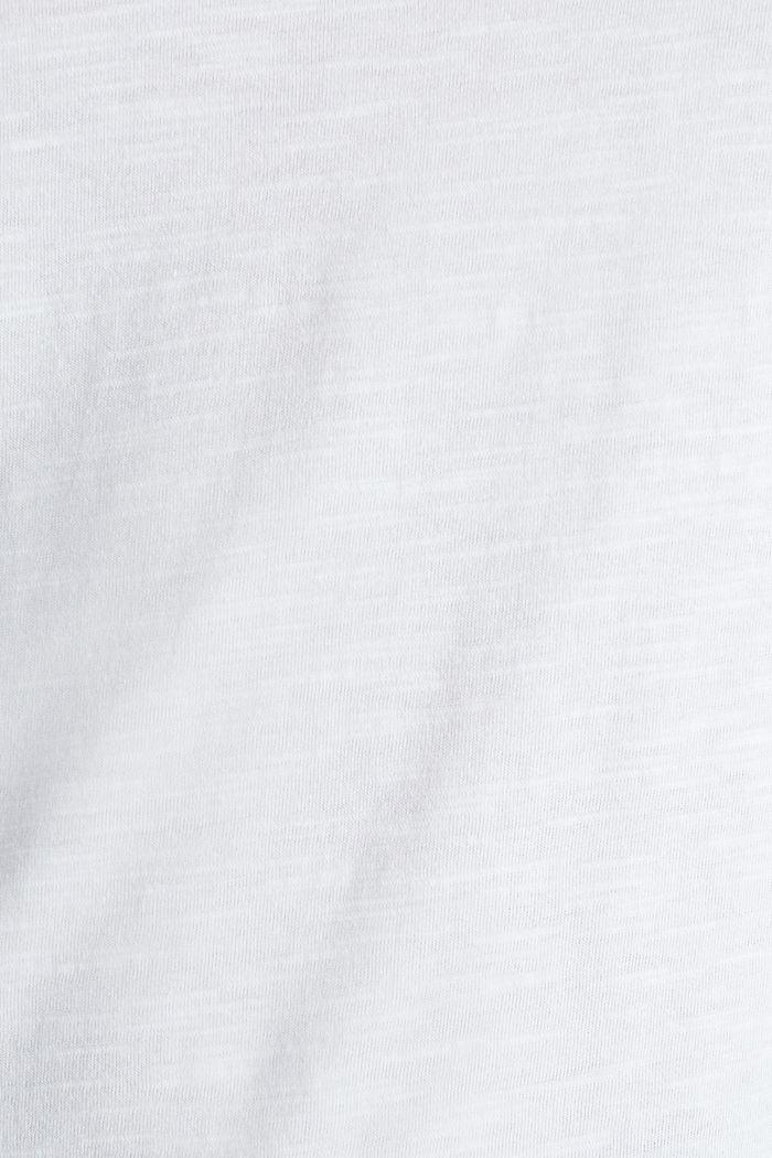 Baumwoll-Shirt, 3/4-Ärmel, WHITE, detail image number 4