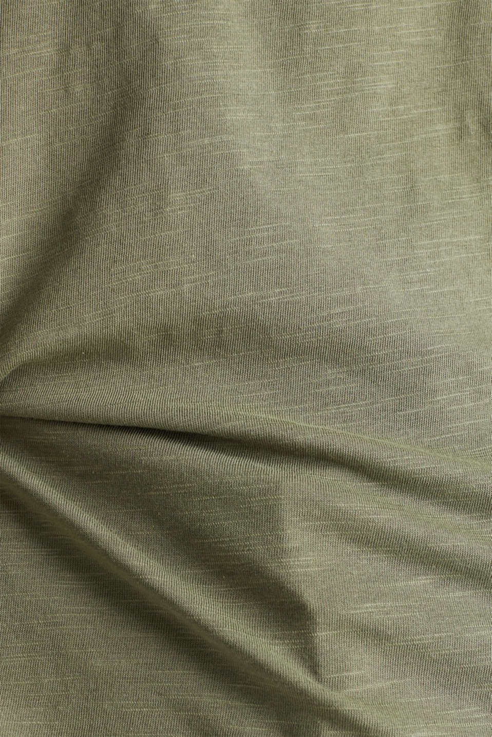 Cotton top, 3/4 sleeves, KHAKI GREEN, detail image number 4