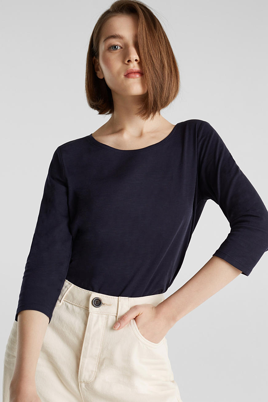Cotton top, 3/4 sleeves