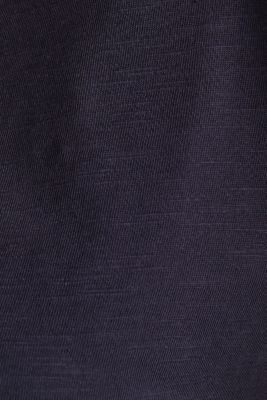 Cotton top, 3/4 sleeves, NAVY, detail