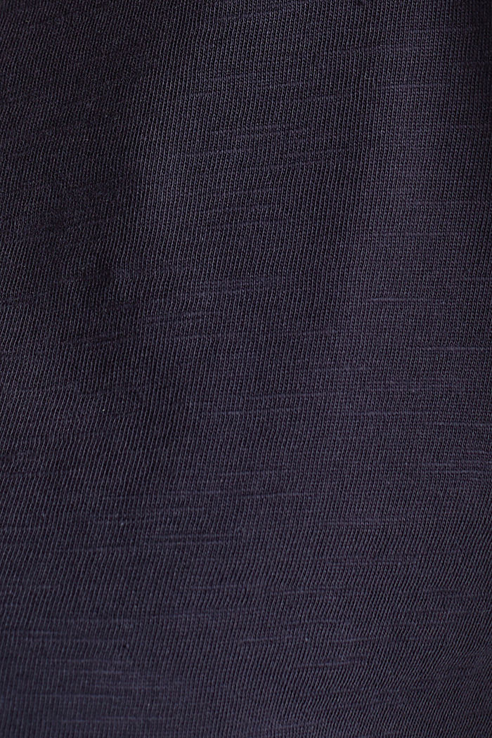 Cotton top, 3/4 sleeves, NAVY, detail image number 4