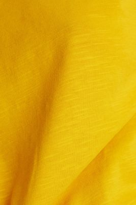 Cotton top, 3/4 sleeves, BRASS YELLOW, detail
