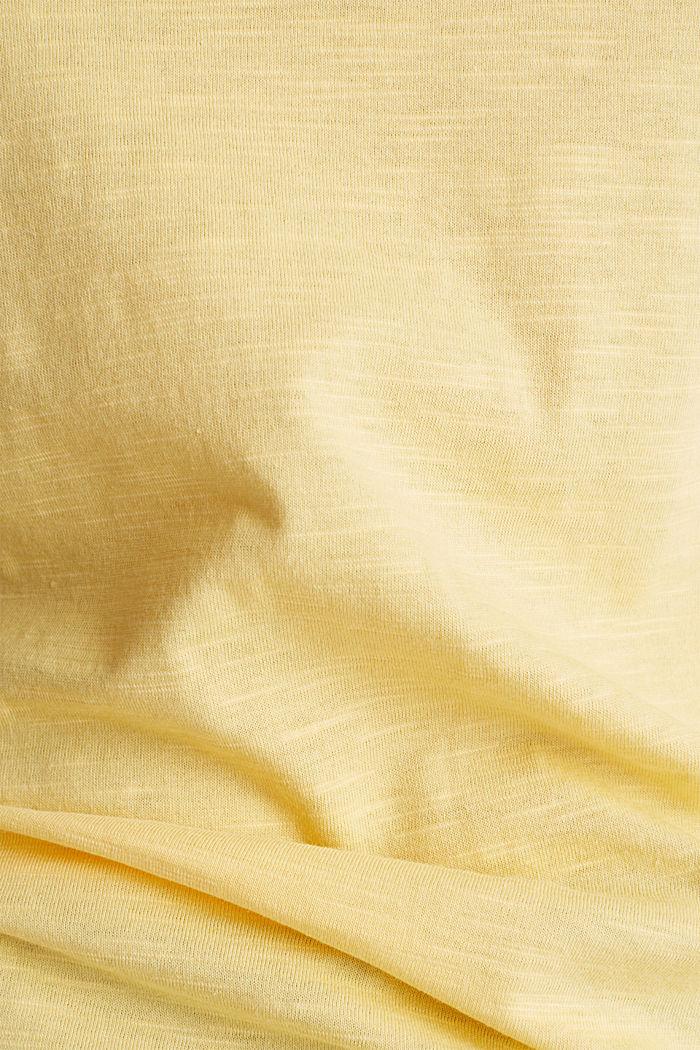 Baumwoll-Shirt, 3/4-Ärmel, LIGHT YELLOW, detail image number 4