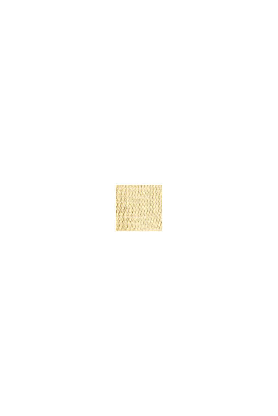 Baumwoll-Shirt, 3/4-Ärmel, LIGHT YELLOW, swatch