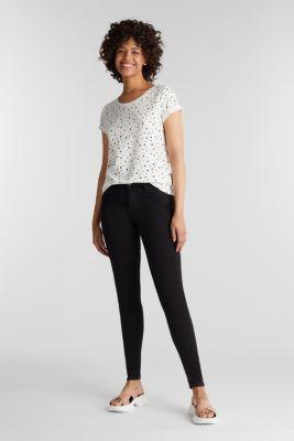 Slub T-shirt with print, 100% cotton, OFF WHITE, detail