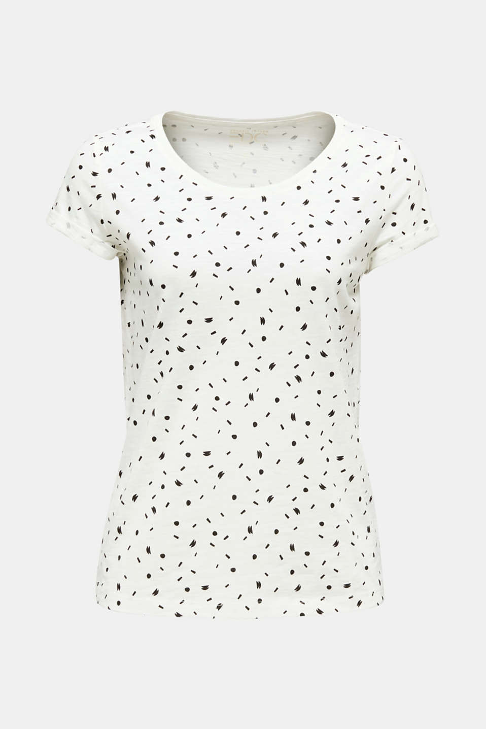 Slub T-shirt with print, 100% cotton, OFF WHITE, detail image number 5