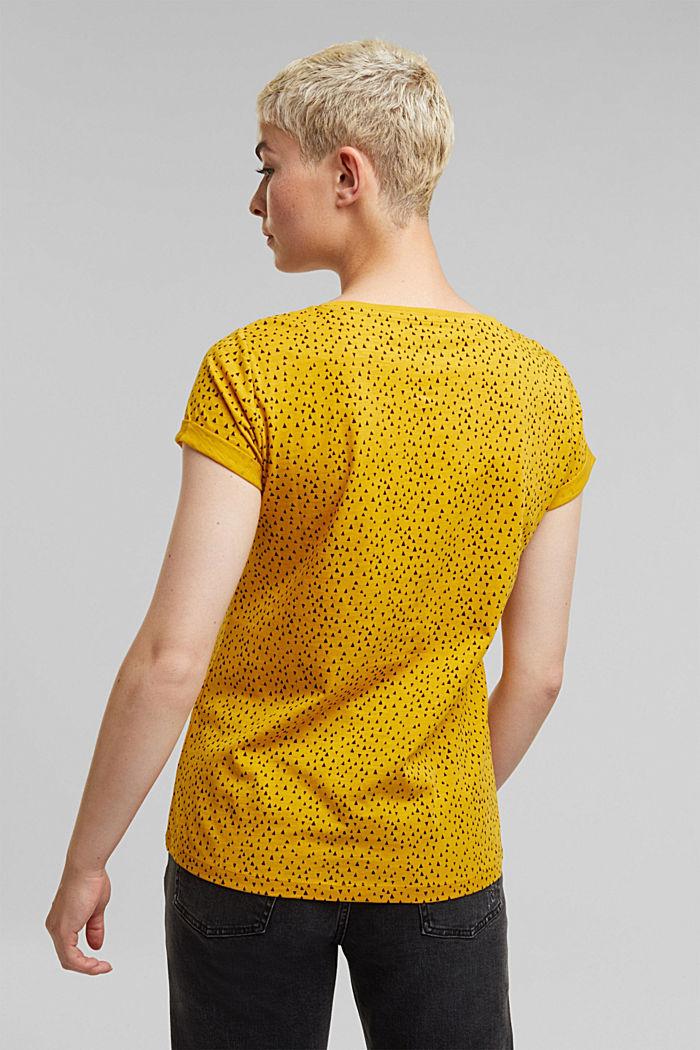 Slub T-shirt with print, 100% cotton, BRASS YELLOW, detail image number 3