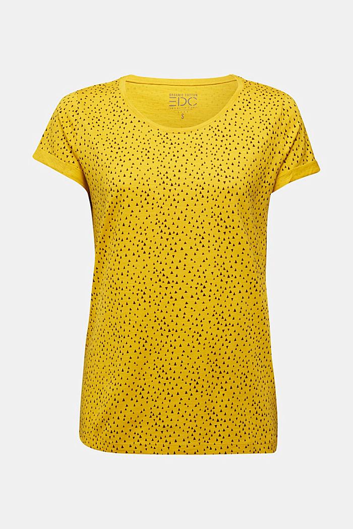 Slub T-shirt with print, 100% cotton
