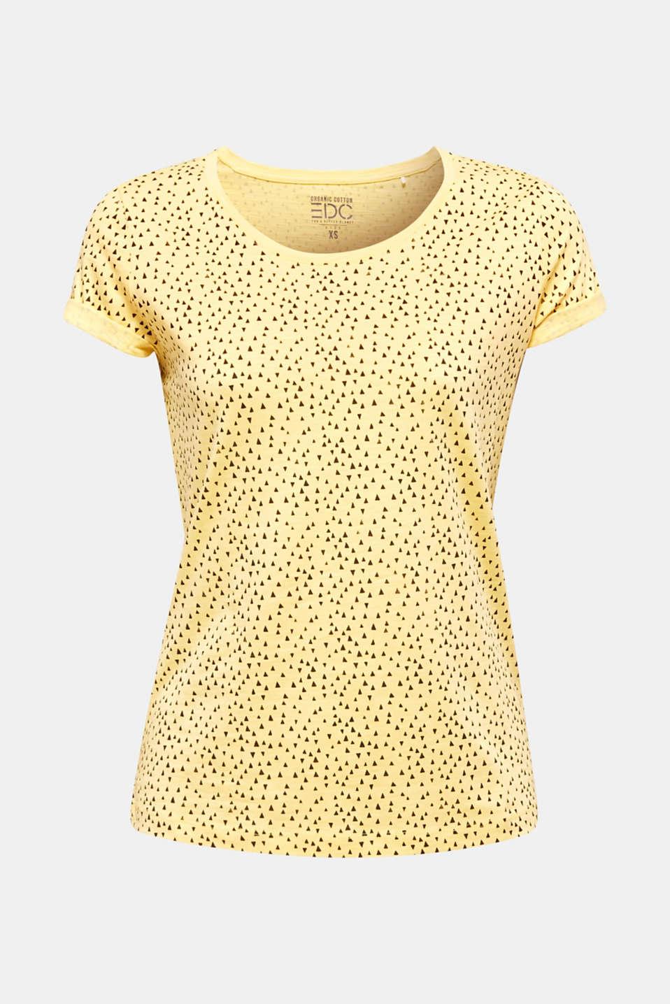 Slub T-shirt with print, 100% cotton, LIGHT YELLOW, detail image number 7