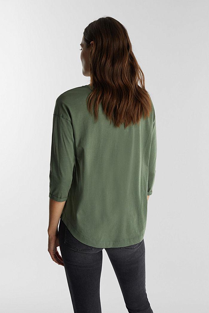 Jersey-Shirt aus 100% Organic Cotton, KHAKI GREEN, detail image number 3