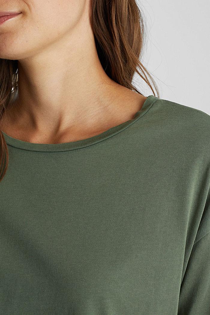 Jersey-Shirt aus 100% Organic Cotton, KHAKI GREEN, detail image number 2