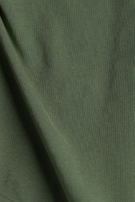 Jersey T-shirt made of 100% organic cotton, KHAKI GREEN, detail