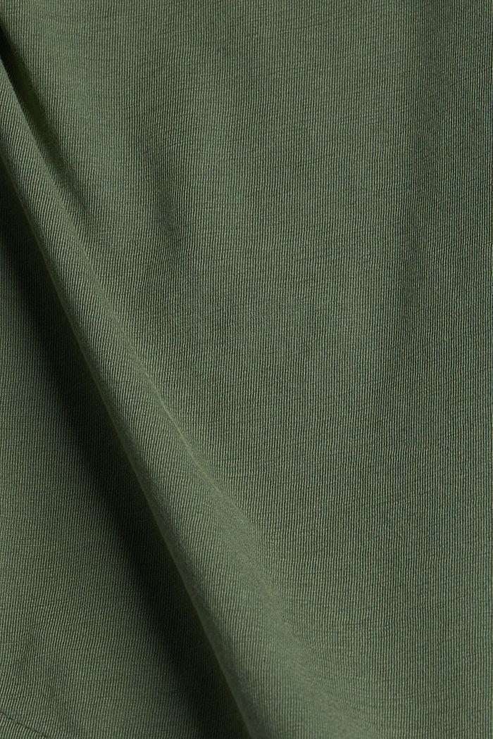 Jersey-Shirt aus 100% Organic Cotton, KHAKI GREEN, detail image number 4