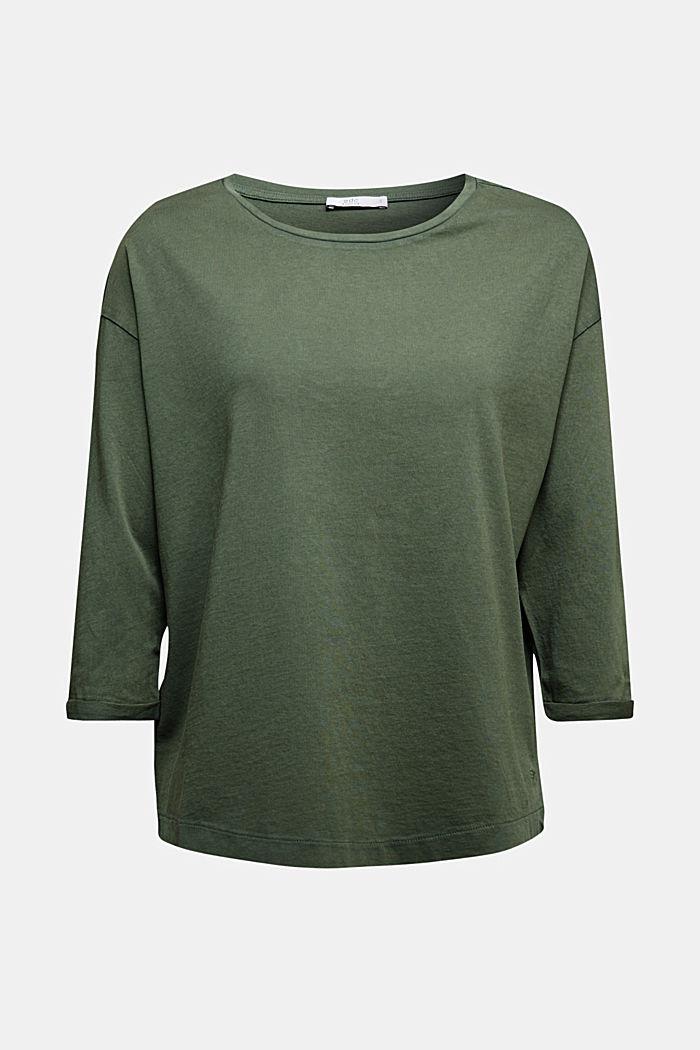 Jersey-Shirt aus 100% Organic Cotton, KHAKI GREEN, detail image number 5
