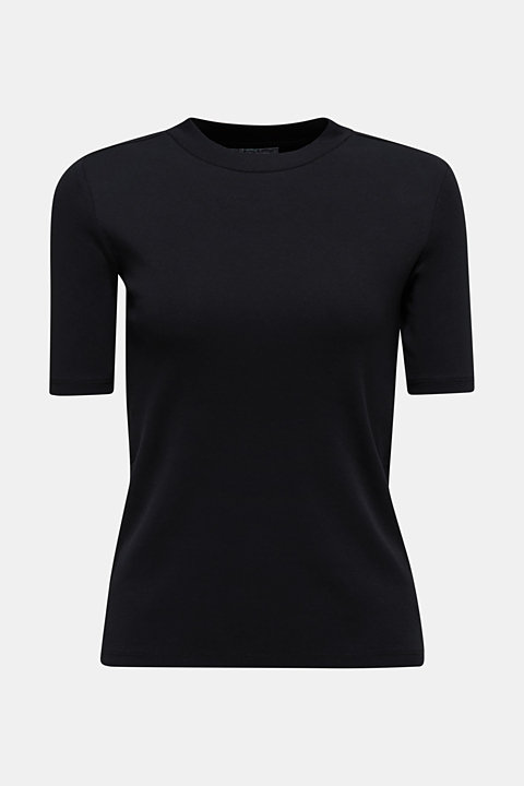 T-shirt with a stand-up collar, 100% cotton