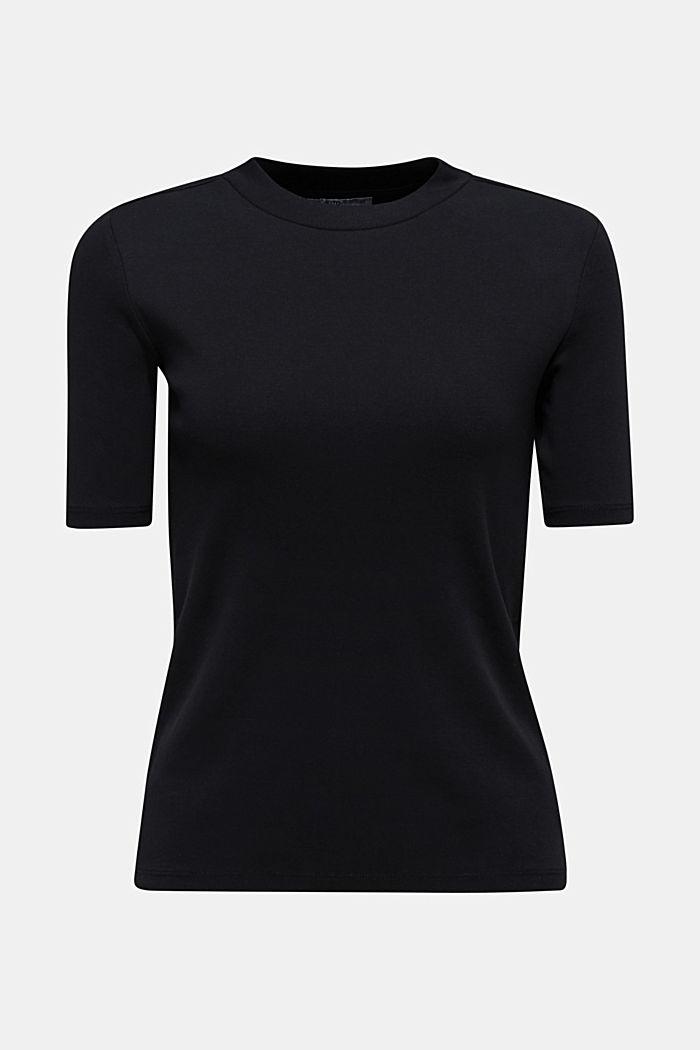 Stehbund-Shirt, 100% Baumwolle, BLACK, detail image number 3